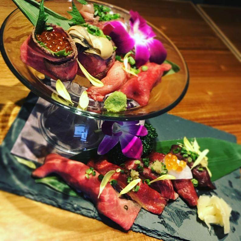 肉の握り寿司