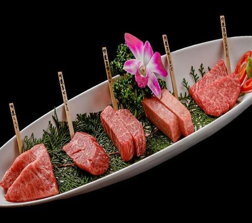 特選 黒毛和牛肉部位5種食べ比べ