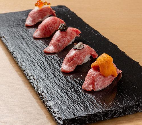 平井牛リブロースの炙り焼握り寿司