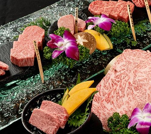 ≪忘新年会 肉宝平井牛焼肉コース≫ 最上級平井牛とシャトーブリアン、世界三大珍味の肉の寿司