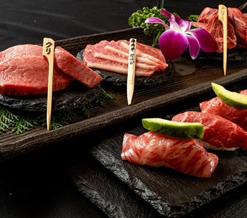 《忘新年会スペシャルコース≫極上黒毛和牛と肉の寿司を楽しむ!