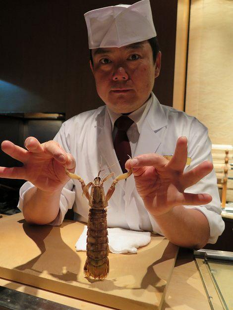 北海道産のシャコ、伊藤さん
