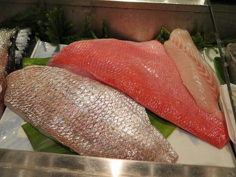 千葉産のキンメダイ、愛知県産の天然真鯛