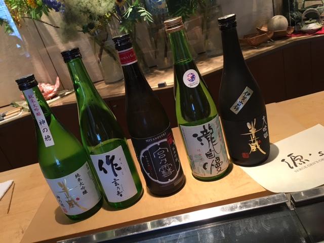 「作 玄乃智」をはじめ、 純米大吟醸 半蔵、純米吟醸 宮乃雪、 瀧自慢、大吟醸半蔵