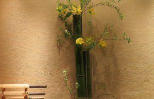 【今週のお花】レンギョ、グラジオラス、フリージア
