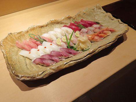 寿司盛り合わせ、4人前
