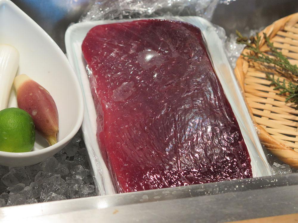ミンククジラの肉