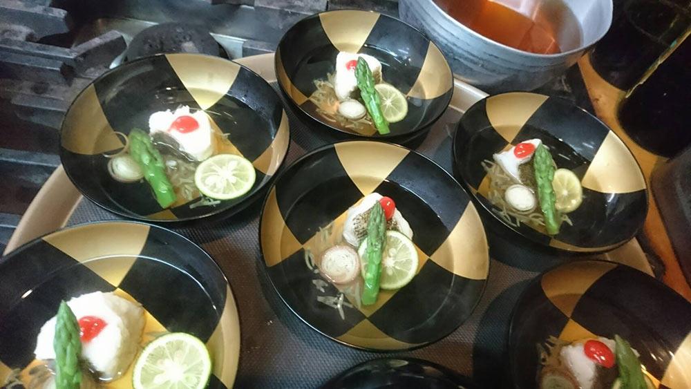 コチとジュン菜の椀