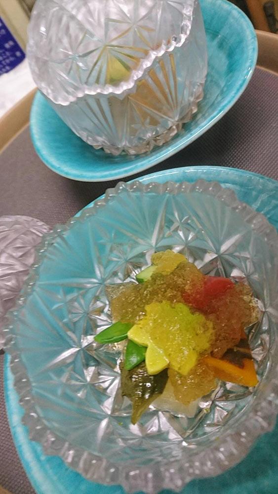 夏野菜の冷やし炊き合わせ