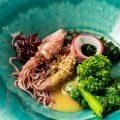 ホタルイカと菜の花の酢味噌和え